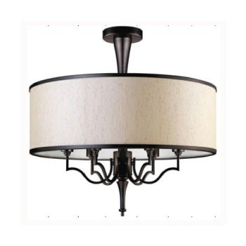 36378 Chandelier BrownBrush E27