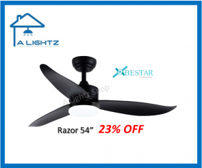 BESTAR Razor 54inch Matt Black with LED light kit